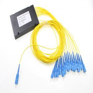 Quality Sc Upc Fiber Optic Plc Splitter 1x16 , Passive Optical Single Mode Fiber Splitter for sale