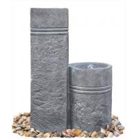 Wholesale Two Closely Cast Stone Fountains Outdoor Marble Nature Color Garden Water Fountain from china suppliers