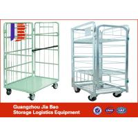 Wholesale Four Sides Supermarket Mobile Storage Logistics Trolley , Steel Roller Container from china suppliers