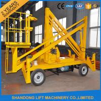 Wholesale 13m CE Crank Arm Trailer Mounted Boom Hire for Aerial Work Platform 200kg Loading Capacity from china suppliers