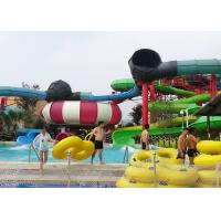 Big Combination Fiberglass Adult Water Slide High Speed For Water Park