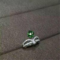 Wholesale 18K Gold Brand Jewelry Platinum Ring brilliant cut diamonds pear shaped cut diamond and one pillow emerald from china suppliers