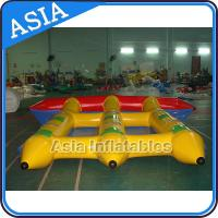 Quality Water Sports Inflatable Flying Fish Boat Towable 0.9mm PVC Tarpaulin Waterproof for sale