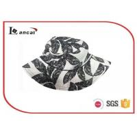 Wholesale 100% Cotton floral printing bucket hat with wide brim , summer straw hats from china suppliers