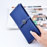 Wholesale Belt Buckle Ladies Long Type Leather Clutch Wallet With Thin Body Simple Design from china suppliers