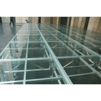 Quality Easy install acrylic / glass adjustable stage platform / plexiglass stage Platform with Aluminum truss for sale