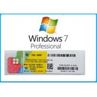 China Microsoft Windows 7 Product Key Codes Genuine OEM License Activation Online on sale
