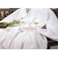 Wholesale Pure Cotton Bathrobes High Grade Velvet Stripe Robe FCC / SGS from china suppliers