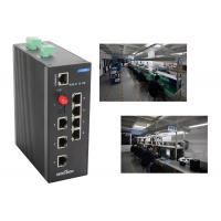 Wholesale Reliable Din rail ethernet switch 8 port gigabit 7*100Base T(X) ports and 1 100Base FX port from china suppliers