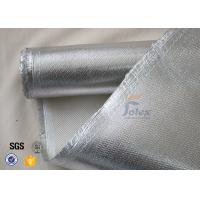 Wholesale 800℃ 700g 0.8mm Silver Coated High Silica Fabric Cloth For Heat Resistant from china suppliers
