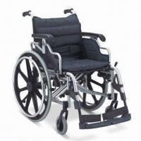 Wholesale Wheelchair with Aluminum Chair Frame, Flip-up and Height-adjusted Desk Armrest, CE/FDA-approved from china suppliers