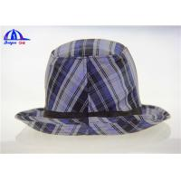 Wholesale Customized Adult Lattice Printed Bucket Hats with 100% Polyester Fabric from china suppliers