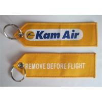 Wholesale Kam Air Remove Before Flight Fabric Embroidery Pilot Key Chains Keyring from china suppliers
