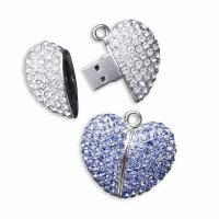 Wholesale Best Wedding Gifts Diamond Jewelry USB Flash Drives from china suppliers