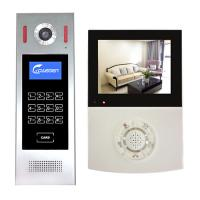 China Unlock talk 4 wire building intercom video door bell with 4 inch color LCD screen indoor monitor video door phone system on sale