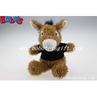 "Wholesale 7.9""Custom Plush Brown Donkey Animal With Black T-shirt from china suppliers"