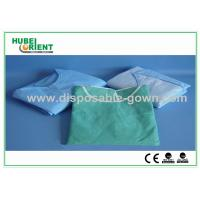 Wholesale Light Blue Breathable Disposable Isolation Gowns with Knitted Wrist from china suppliers