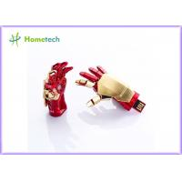 Wholesale USB flash drive Creative IRON MAN pendrive Palm Shape Movable Joint U Disk Portable from china suppliers