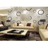 Buy cheap Geometric Non - woven Modern Removable Wallpaper with Black and White Circles from wholesalers