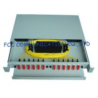 Wholesale Sliding Fiber Optic Patch Panel Rack Mount / FC 24 port patch panels For Fiber Optic Telecoms from china suppliers
