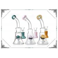 Wholesale 8 Inches Glass Smoking Bubbler With Color Elf Percolator Bongs Beaker Bottom from china suppliers