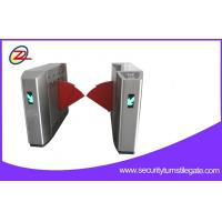Quality Biometric Retractable Flap Barrier Gate , Access Control Barriers Double Swing Arm for sale