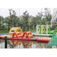 Wholesale Red Color Portable Inflatable Water Parks / 20m Floating Water Amusement Equipment from china suppliers