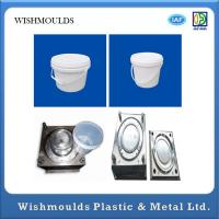 Wholesale PP Material Injection Moulded Plastic Bucket With Lid Bucket Mould 300,000 Shots from china suppliers