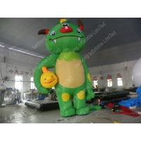 Wholesale Green Large Inflatable Cartoon Characters , Amusement Park Inflatable Monster from china suppliers