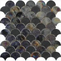 Wholesale Rainbow blacksector water waving glass mosaic from china suppliers