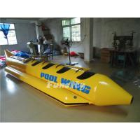 Wholesale Single Tube Yellow Black Inflatable Banana Boat Customized Sea Ocean from china suppliers