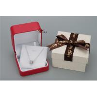 Wholesale Sweet Red PU Leather Women'S Jewelry Box With Bowknot Flower Cardboard Outer Box from china suppliers
