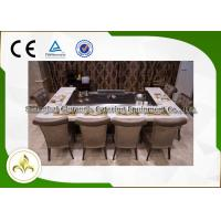 Wholesale Rectangular Stove Top Teppanyaki Grill Japanese Hibachi Table With Ventilation System from china suppliers