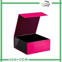 Quality Cardboard / Art Paper Magnetic Closure Gift Box , Foldable Magnetic Paper Box for sale