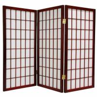 Wholesale 3 Panels Wooden Foldable Movable Woven Decorative Screens Room Divider from china suppliers