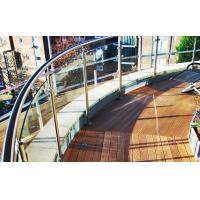 Wholesale Stainless steel baluster post curved glass balcony railing designs from china suppliers