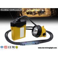Wholesale 3W 800mA LED coal mining cap lamp , cable light color option with SAMSUNG battery pack from china suppliers