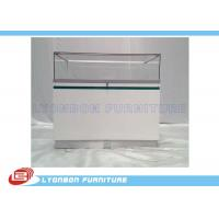 Wholesale Shop White Painted Wood Display Cabinets Glass Showcase With LED Lights from china suppliers