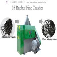 Wholesale Eco-friendly automatic waste tire rubber cutting machine tire shredder tire crusher tire fine crusher from china suppliers