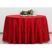Wholesale Polyester Jacquard Plain Linen Table Cloths For Wedding Party Oilproof Fire Retardant from china suppliers