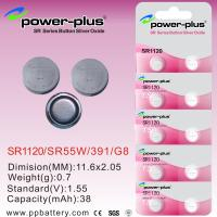 Wholesale SR1120 1.55V 38mAh Silver Oxide Button Cells Batteries for Watch, Shoes Lighter SR55W / 391 / G8 from china suppliers