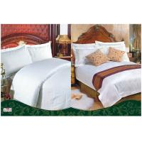 Wholesale Customized 100 % Cotton White Color Solid Hotel Bedding Sets with 3 cm Satin Strip from china suppliers