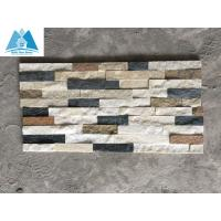 Buy cheap Mixed Colors Quartzite Cultured Stone Veneer Ledger Stone Panels Stone Wall Cladding from wholesalers