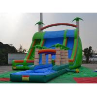 Wholesale Colorful 0.55mmpvc Tarpaulin 8*6*5m Inflatable Slide With Swimming Pool For Outdoor Sports from china suppliers