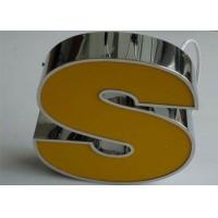 Wholesale Linishing Stainless Steel LED Lighted Letter Signs With Acrylic Face 3D Effect from china suppliers