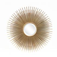 Wholesale FR-15402 sunburst wall mirror for home decoration in metal with gold leaf from china suppliers