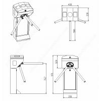 tripod turnstile ODM barrier gate design .png