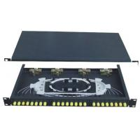 Wholesale ST24 Rack-Mounted Fiber Optic Patch Panel, GPZ / RM - SC24 480 * 250 * 1U from china suppliers