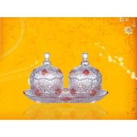 Wholesale A Pair Of Candy Glass Bowl With Lid , 2000ml from china suppliers