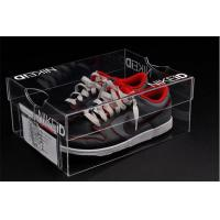 Wholesale Factory sell customized cheap acrylic shoe clear shoe box with drawer from china suppliers